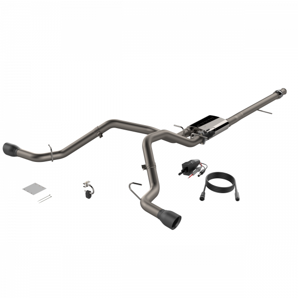 Quick Time Performance - 2014-2018 Silverado/Sierra QTP Screamer Split Rear Exit Cat Back Black Tips