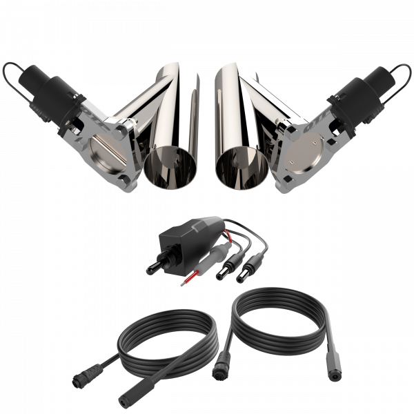 Quick Time Performance - Dual 3.00 Inch QTP Electric Exhaust Cutout Combo Kit