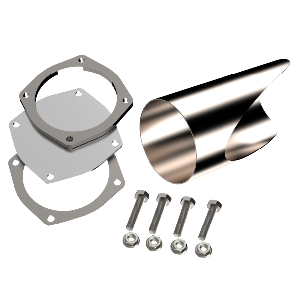 Quick Time Performance - 5.00 Inch Stainless Steel QTP DIY Exhaust Cutout Pipe