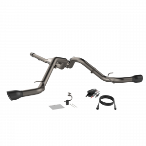 Quick Time Performance - 2014-2018 Silverado/Sierra QTP Screamer Split Rear Exit Cat Back Black Tips - Image 3