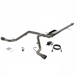 Quick Time Performance - 2014-2018 Silverado/Sierra QTP Screamer Split Rear Exit Cat Back Black Tips - Image 1