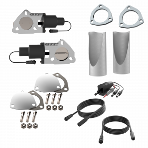 Quick Time Performance - Dual 2.50 Inch QTP Electric Exhaust Cutout DIY Combo Kit - Image 1