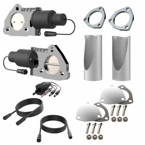 Quick Time Performance - Dual 2.50 Inch QTP Electric Exhaust Cutout DIY Combo Kit - Image 2