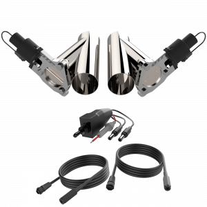 Quick Time Performance - Dual 3.00 Inch QTP Electric Exhaust Cutout Combo Kit - Image 1