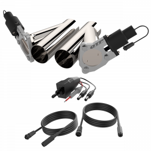 Quick Time Performance - Dual 3.00 Inch QTP Electric Exhaust Cutout Combo Kit - Image 3