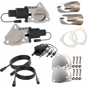 Quick Time Performance - Dual 3.00 Inch QTP Electric Exhaust Cutout DIY Combo Kit - Image 1