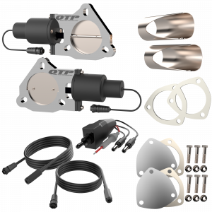 Quick Time Performance - Dual 3.00 Inch QTP Electric Exhaust Cutout DIY Combo Kit - Image 2