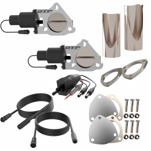Quick Time Performance - Dual 3.00 Inch QTP Electric Exhaust Cutout DIY Combo Kit - Image 3