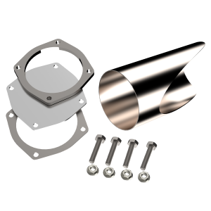 Quick Time Performance - 5.00 Inch Stainless Steel QTP DIY Exhaust Cutout Pipe - Image 1