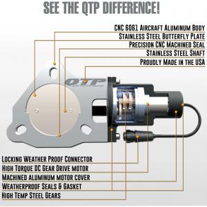 Quick Time Performance - 2.50 Inch QTP Electric Exhaust Cutout Valve - Image 4